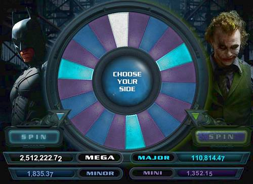 Dark Knight Slots Bonus Wheel